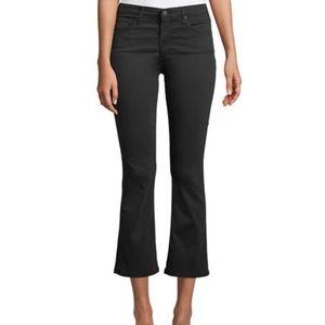 AG Jodi Crop High Rise Slim Flare Jeans Black 32